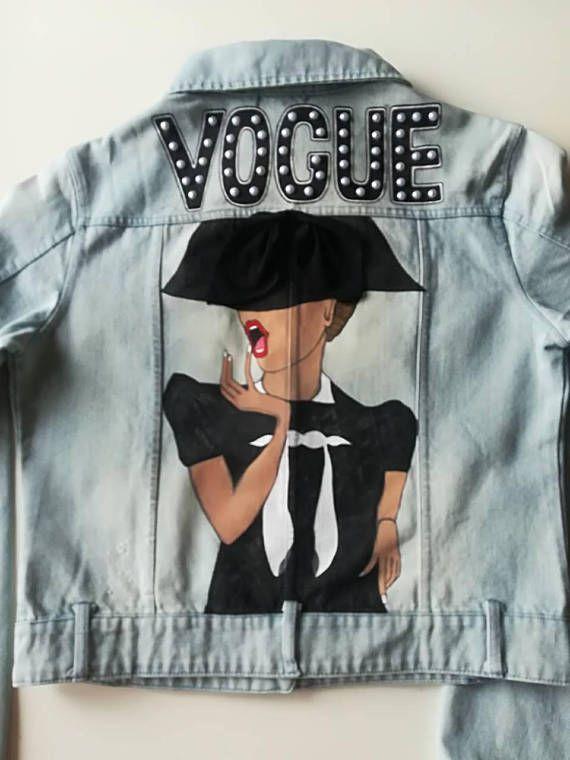 Jeans #jacket paint, Vogue, jacket coats, art Jacket, jean