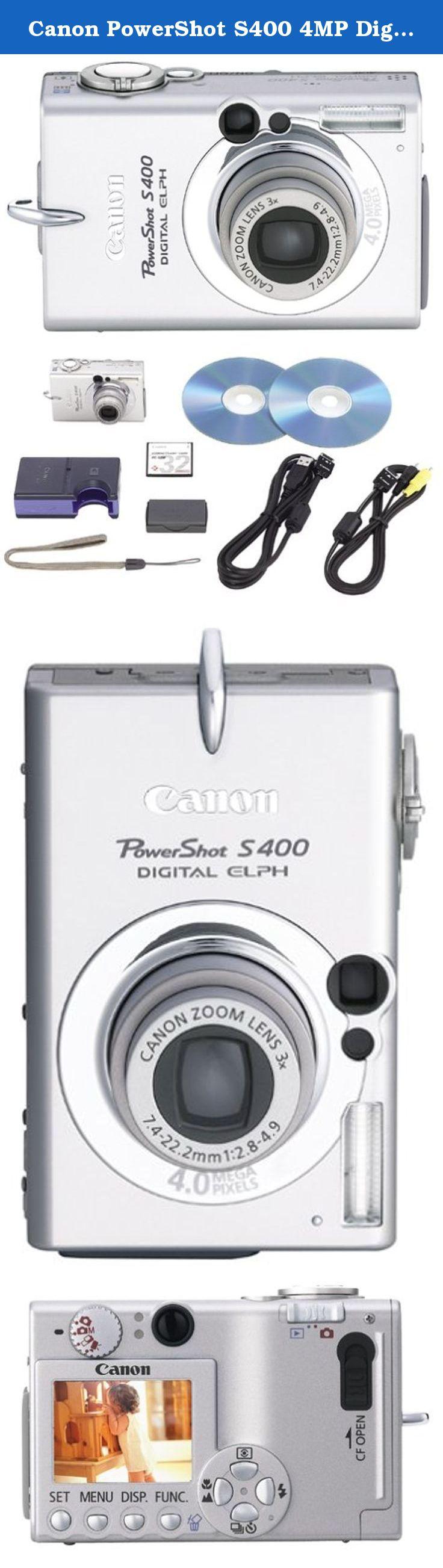 Canon Powershot S400 4mp Digital Camera W 3x Optical Zoom X 6 Mb Compactflash English 1y Warranty F 2 8 4 9a Whole H Digital Camera Powershot Canon Powershot