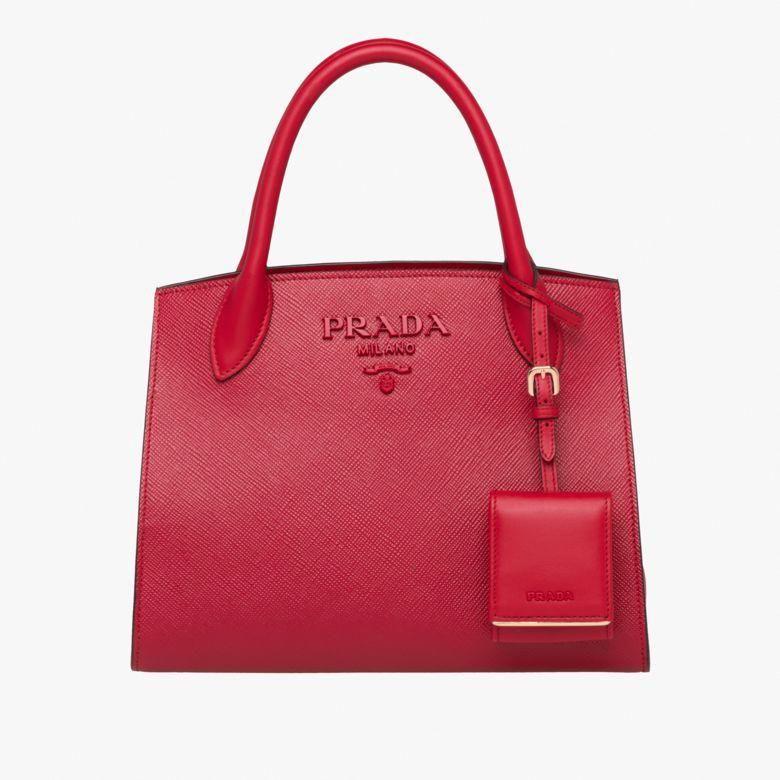 256597dc4465 Prada Monochrome Saffiano leather bag  Pradahandbags