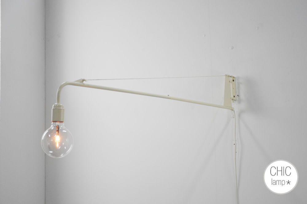 Lampe applique potence pep s style vintage scandinave industrial