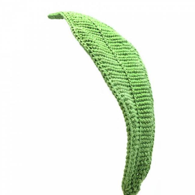 20 FREE Crochet Leaf Patterns for Every Season: Big Green Leaf Free Crochet Pattern