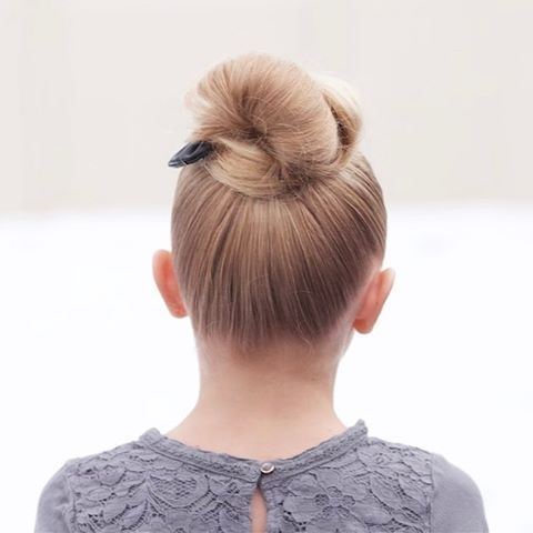 Jehat Hair Back View Of Our Go To Top Knot Made With One Little Girl Hairstyles Sports Hairstyles Girl Hairstyles