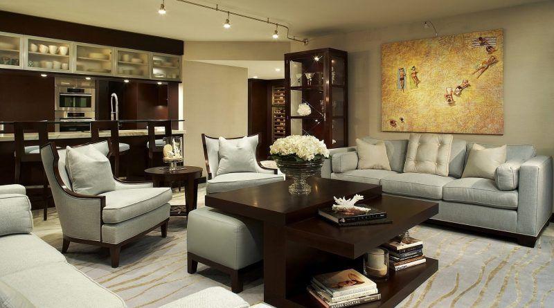 ديكورات شقق مودرن كاملة كتالوج منازل من الداخل قصر الديكور Brown Living Room Living Room Decor Wallpaper Living Room