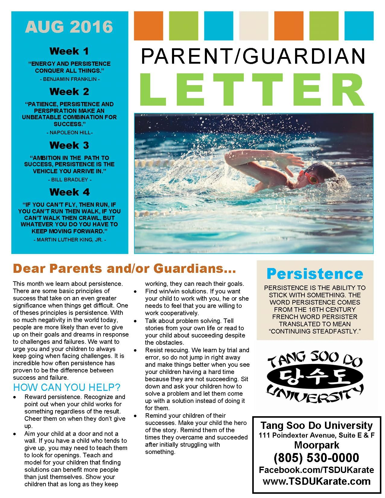 Pin by Tang Soo Do University on TSDU Parent Letters