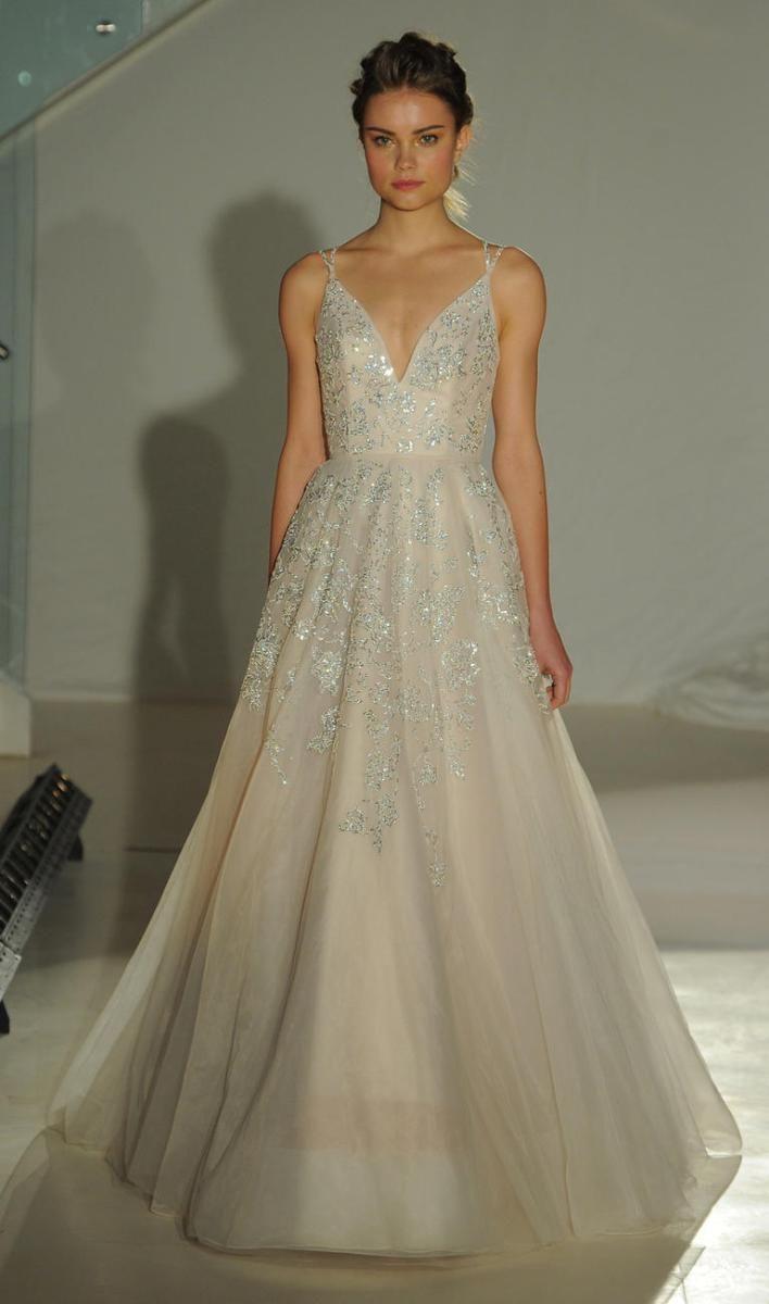 Hailey Page Brautkleid blush Ballkleid Glitzer Steine | Wedding ...