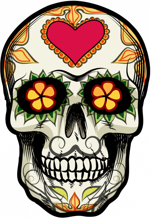 sticker calavera tete de mort mexicaine 18. Black Bedroom Furniture Sets. Home Design Ideas