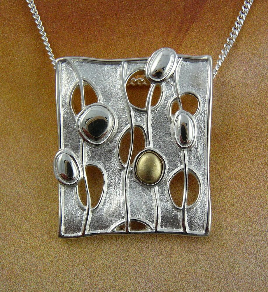 Scottish ola gorie silver pendant chain mixed metal flow silver ola gorie silver pendant chain mixed metal flow boxed scottish aloadofball Image collections