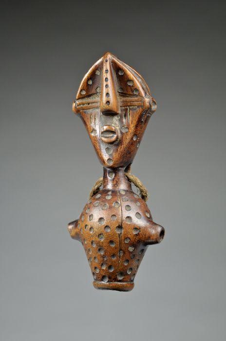 Rare anthropomorphic hunting whistle - LWALWA - Democratic Republic of Congo
