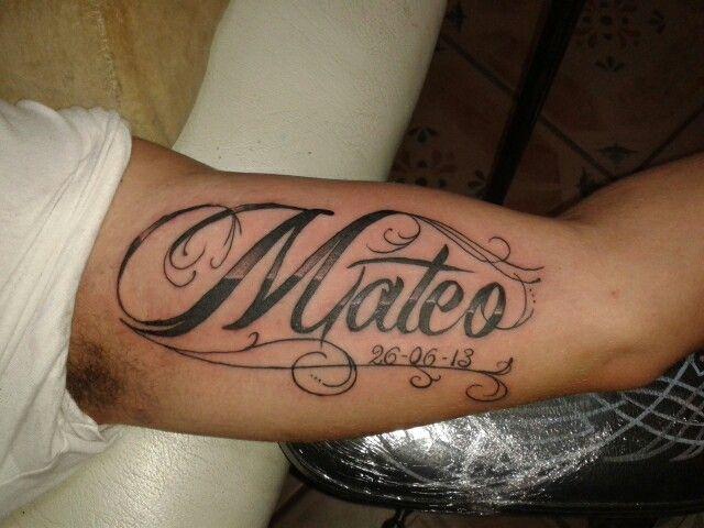 Mateo Tattoo Letters Tatuajes De Nombres Tatuajes De Samurais