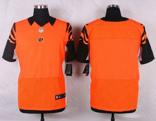 Men's Cincinnati Bengals Blank Orange Alternate NFL Nike Elite Jersey