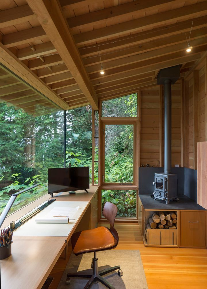 Photo of Wood desk and wood stove – Architecture and Art – My Blog