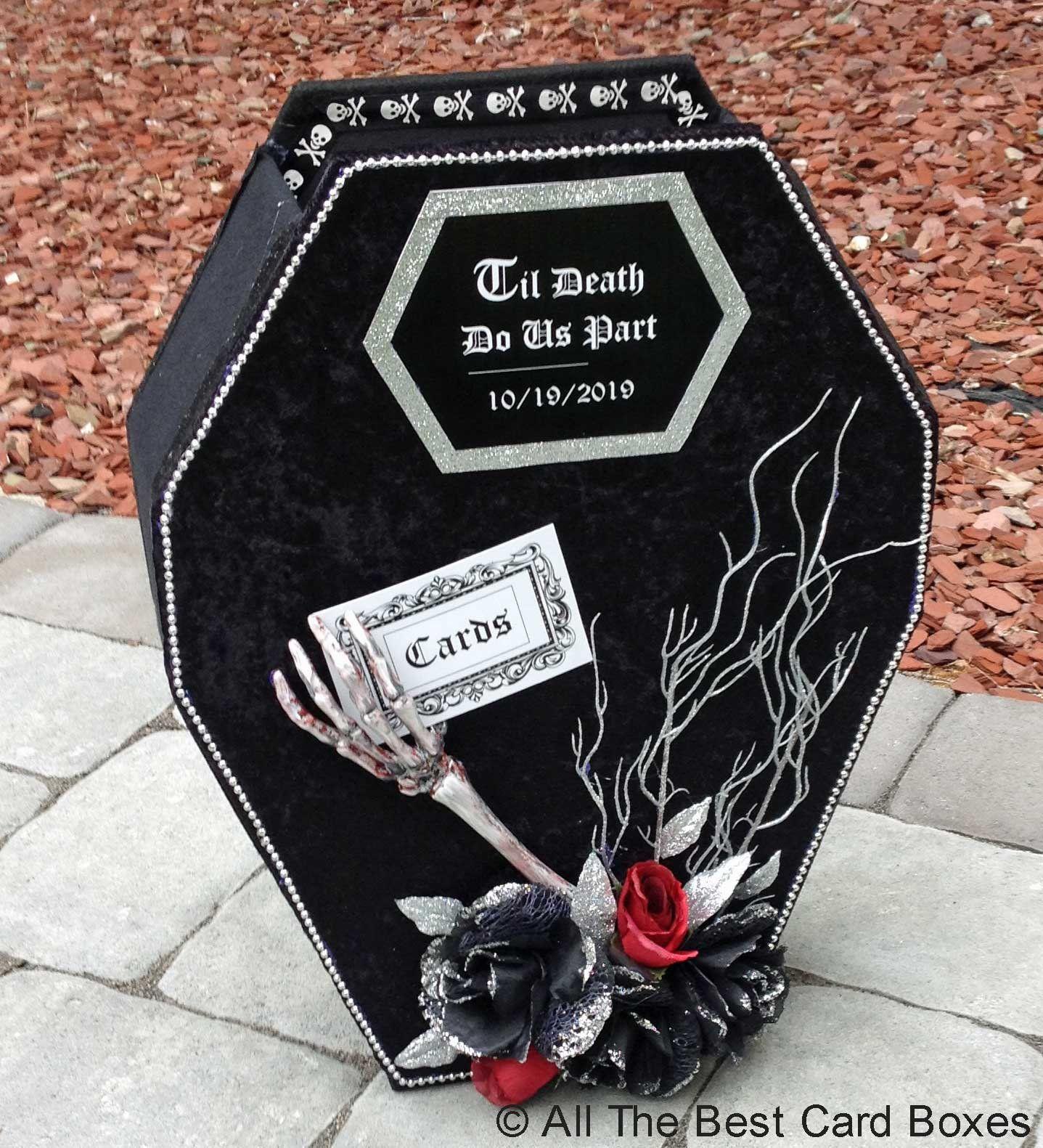 Coffin card boxhalloween weddinghalloween guest book
