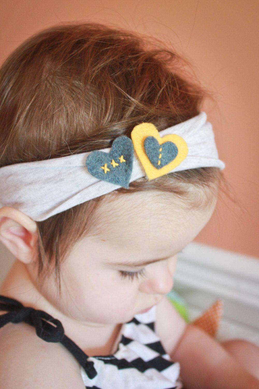 Baby Headband With Felt Heart Embellishment 1 To 2 Years