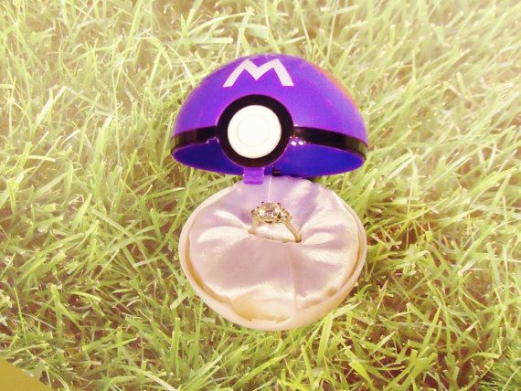 Pokeball Engagement Ring Box Masterball option RING NOT INCLUDED