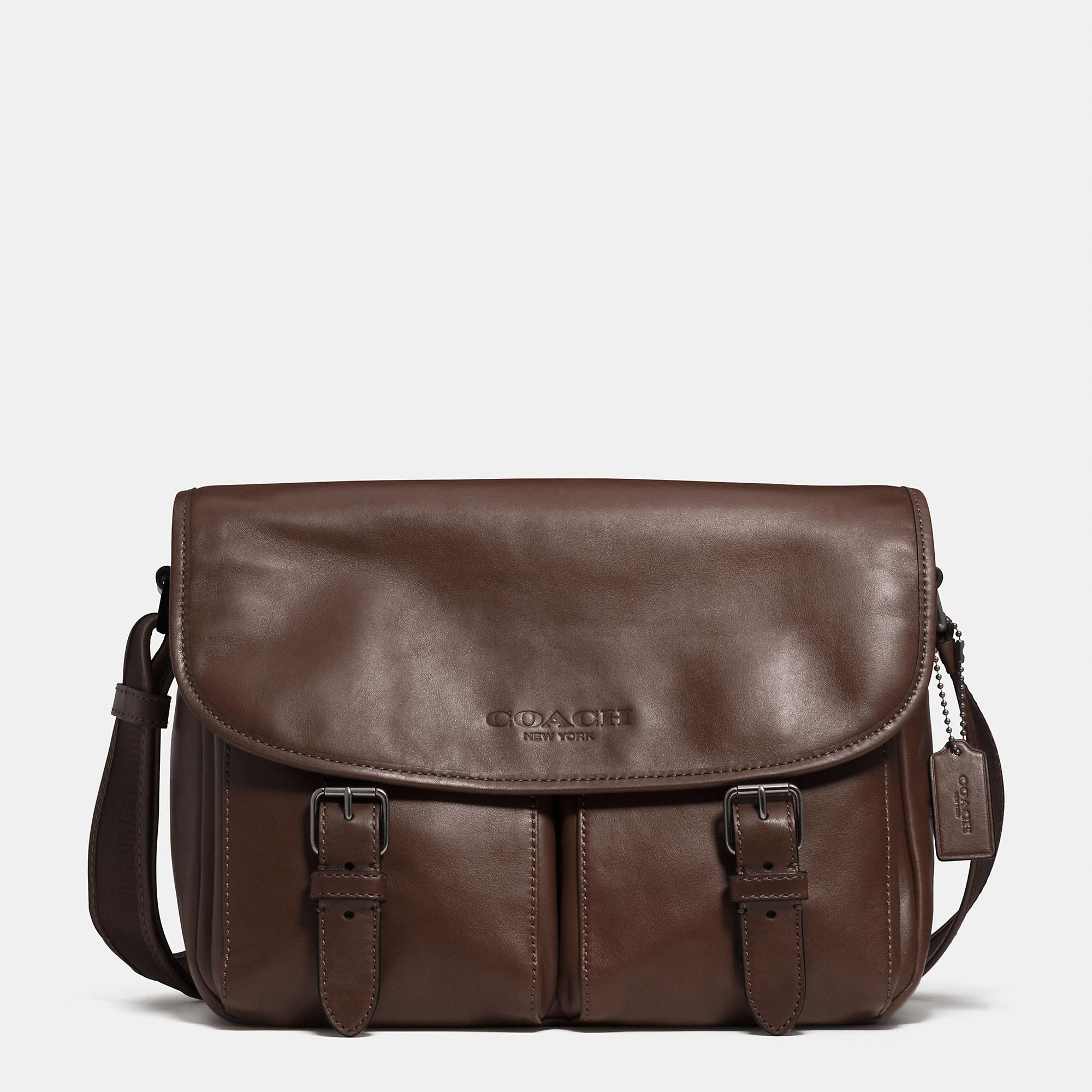 Sport Messenger in Leather | COACH MEN'S | Pinterest | Leather and ...