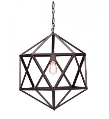 Restoration Hardware Steel Polyhedron Pendant Ceiling Lamp Geometric Ceiling Lamp Small Chandelier