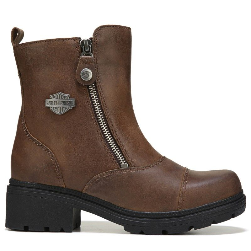 3cd5018c6aa0 Harley Davidson Women s Amherst Boots (Brown Leather)