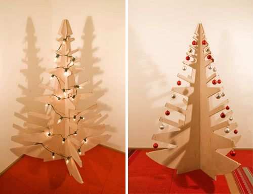 Plywood Christmas Tree By Build Llc Design Milk Modern Christmas Tree Modern Christmas Wooden Christmas Trees