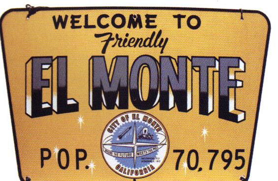 Municipal sign for The City of El Monte, California