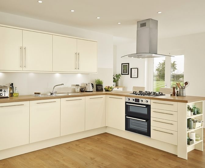 Kitchens Kitchen Inspiration Design Cream Gloss Kitchen Open Plan Kitchen Living Room
