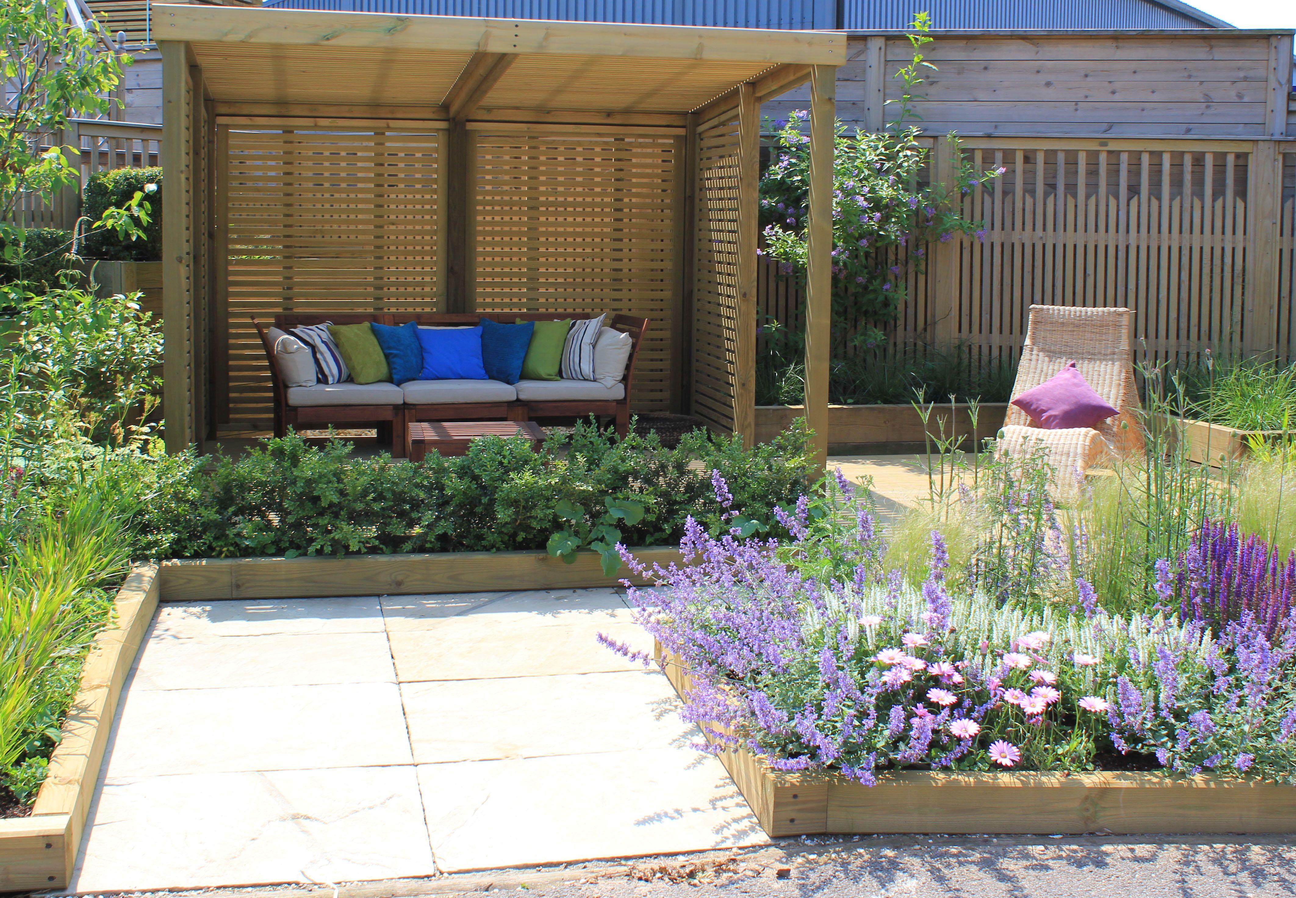 The Sanctuary Garden By Joanne Winn Featuring The Timber Retreat Garden  Shelter #showgarden #design