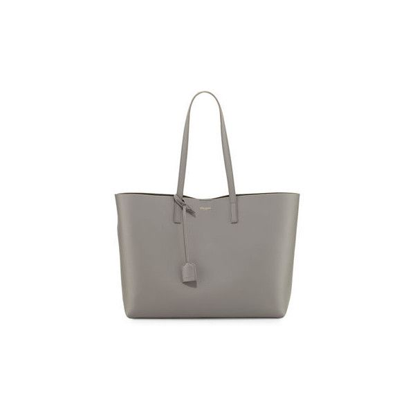 Saint Laurent Large Shopping Tote Bag (3,365 PEN) ❤ liked on Polyvore  featuring bags