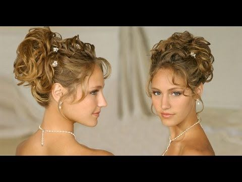 Long Hair Hairstyle Updos For Curly Hair Wedding Homecoming Prom 2013 Hair Tutorials Updos For Medium Length Hair Medium Length Hair Styles Medium Hair Styles