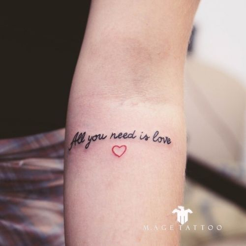 All You Need Is Love With Images Beatles Tattoos Lyric