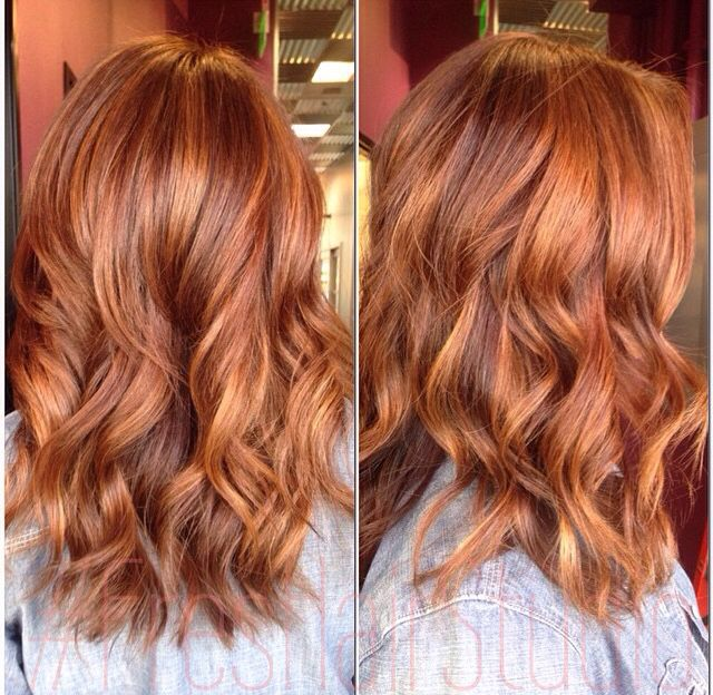 Sunkissed Apricot Balayage Red Hair Color Pinterest Hair