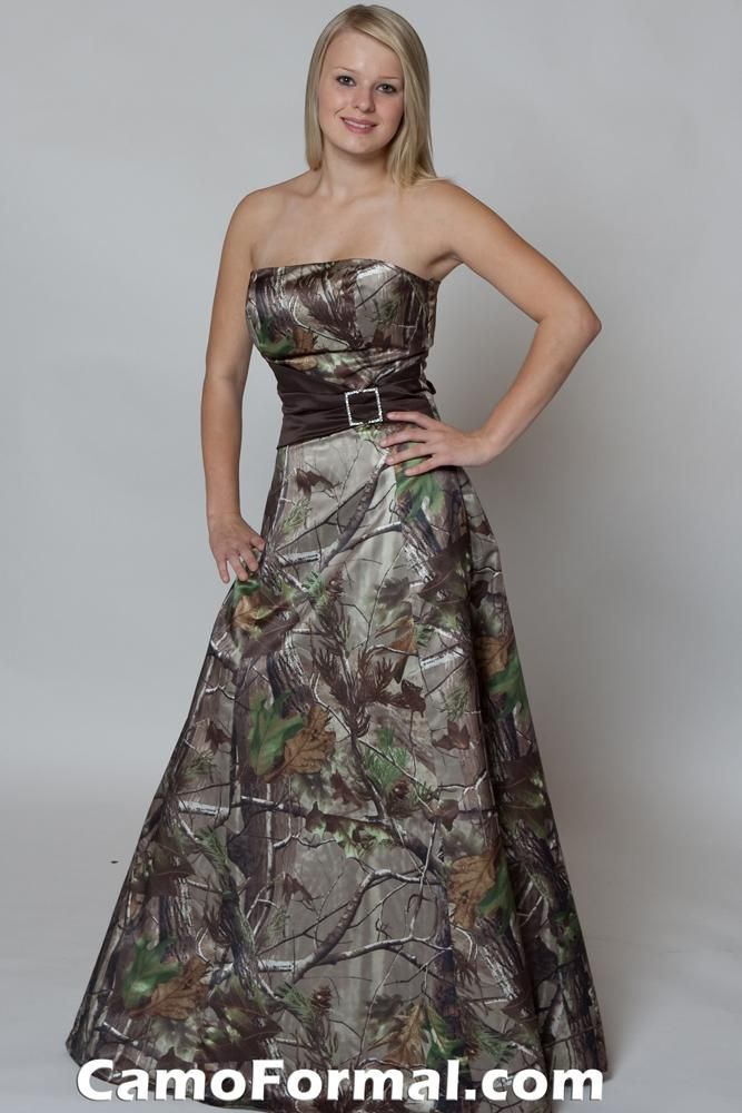 Camo Prom Bridesmaid Dress