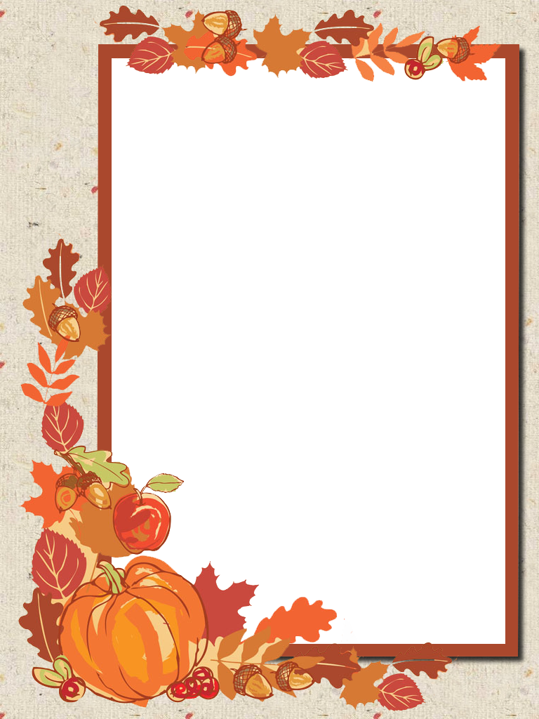 Autumn Frame Png Borders For Paper Blur Background Photography Artwork
