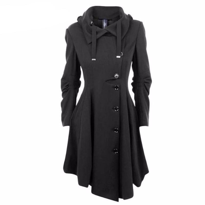 Single Breasted Pleated Irregular Women Overcoat | Clothes