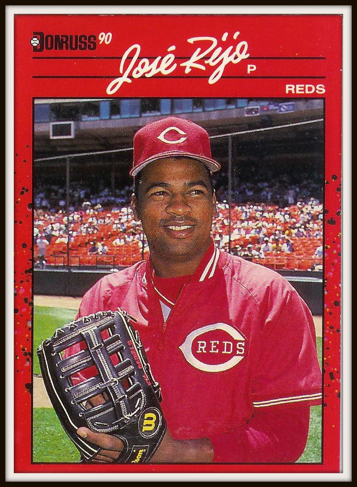 1990 donruss 115 jose rijo reds baseball card mint
