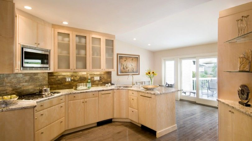 'Delicatus' granite color with natural maple cabs. Stack ... on Kitchen Backsplash With Natural Maple Cabinets  id=17529