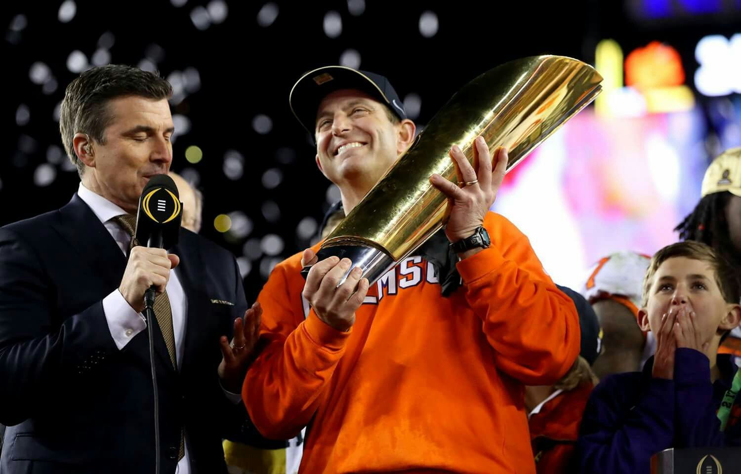 Dabo Swinney with national championship trophy (With ...