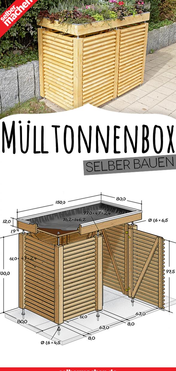 Construisez Vous Meme La Poubelle Garden Boxes Diy Garbage Bin Diy Garden Decor