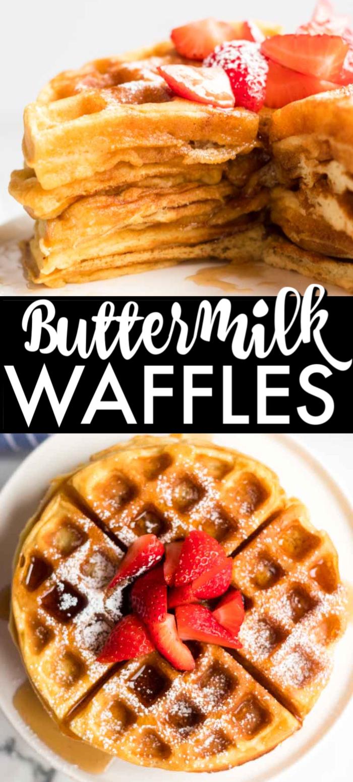 Buttermilk Waffles Buttermilk Waffles Homemade Waffles Healthy Waffles
