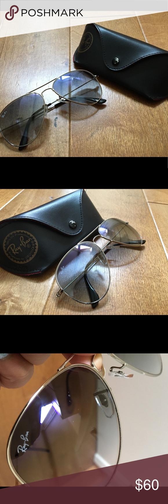 8683adbdc851e Authentic Rayban Aviators Blue-Grey Gradient Rayban RB 3026 62014 135 Ray-Ban  Aviator Gradient sunglasses encompass the teardrop …