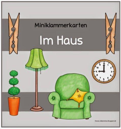 ideenreise miniklammerkarten im haus f r daz school deutsch unterricht. Black Bedroom Furniture Sets. Home Design Ideas