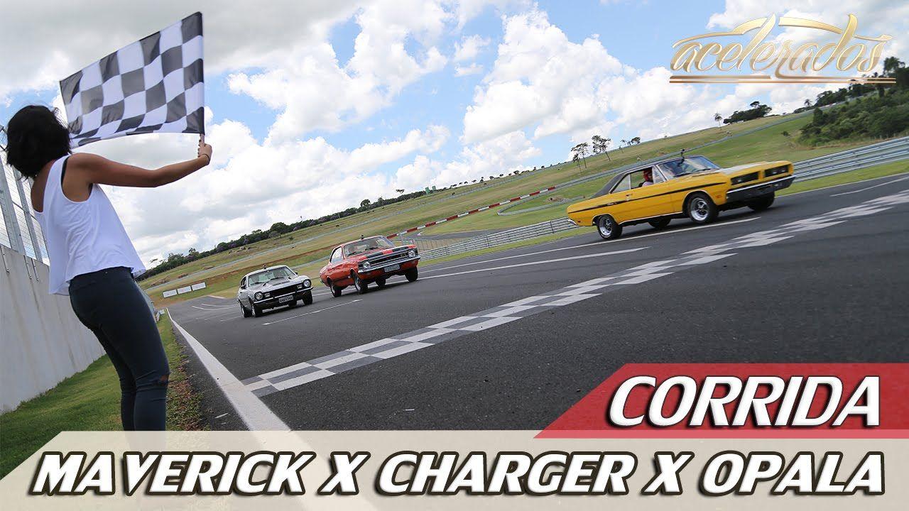 CORRIDA - MAVERICK GT X CHARGER R/T X OPALA SS - DESAFIO ESPORTIVOS ANOS...