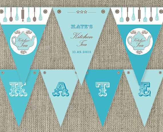 kitchen tea bridal tea party bunting flags party decorations rh pinterest com
