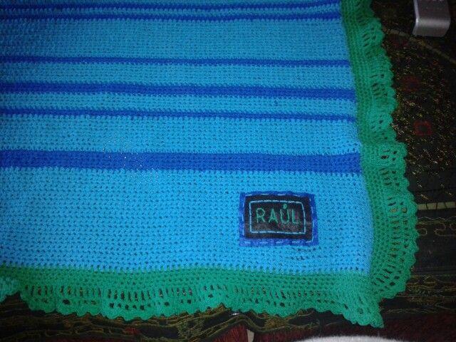 Crochet mantita bebe personalizada
