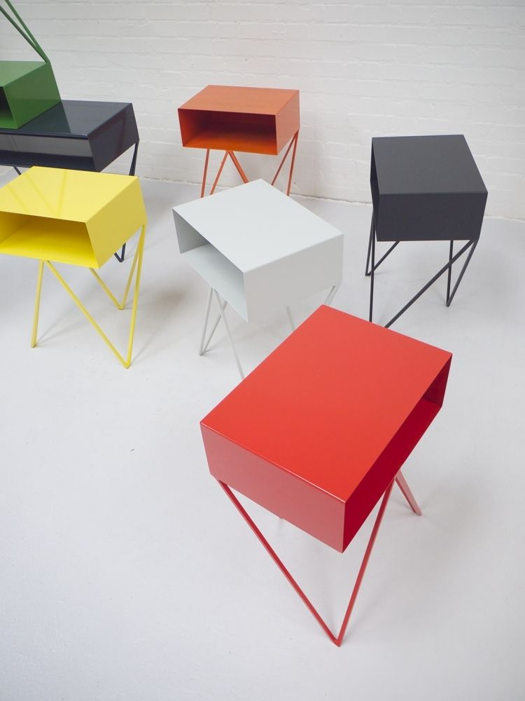 Image of Robot side table in red MESAS Pinterest