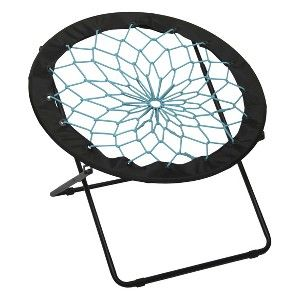 target round dorm chair baby swing very mobile site bungee black with teal college