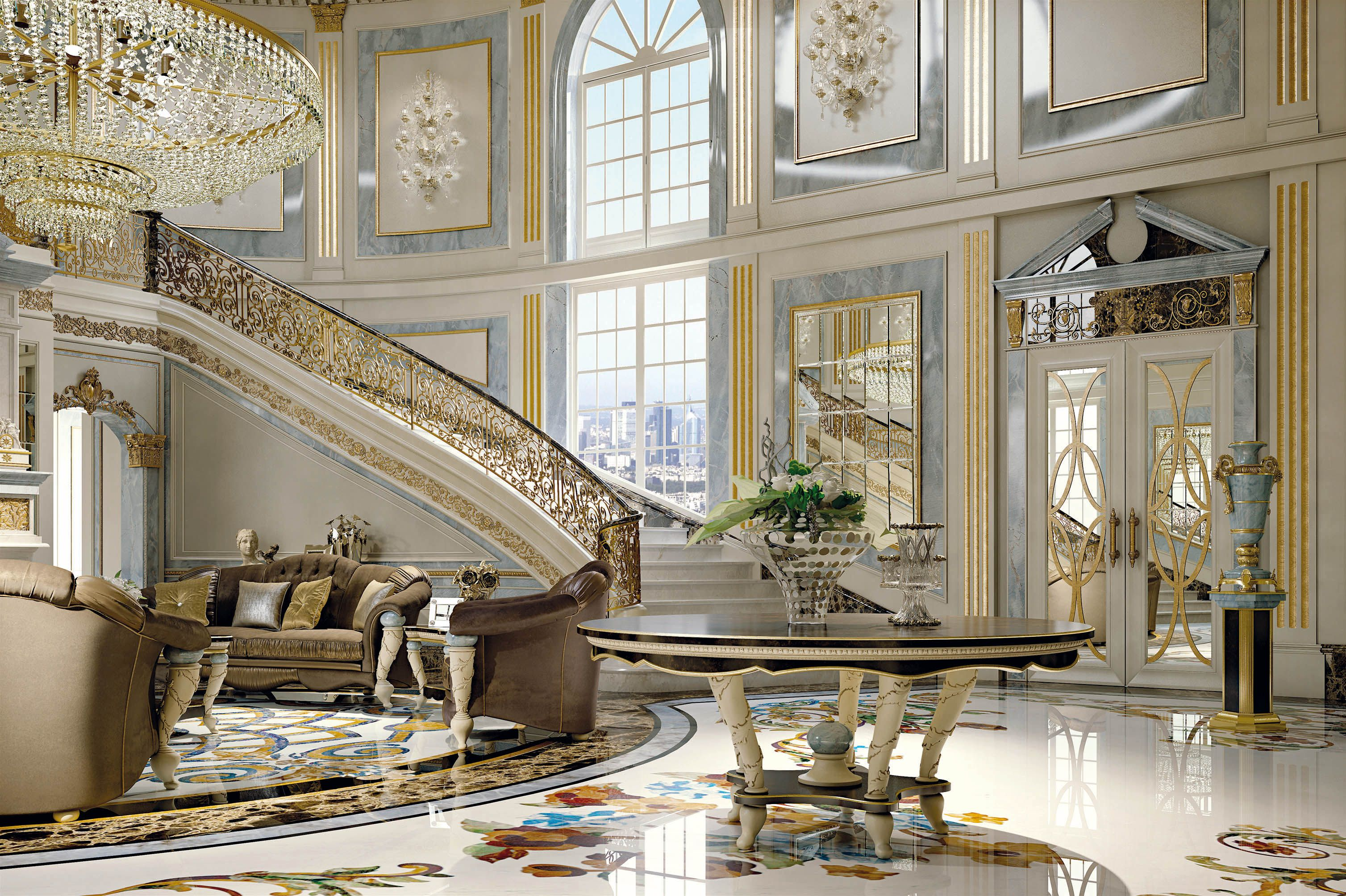 italian furniture for exclusive and modern design entry staging