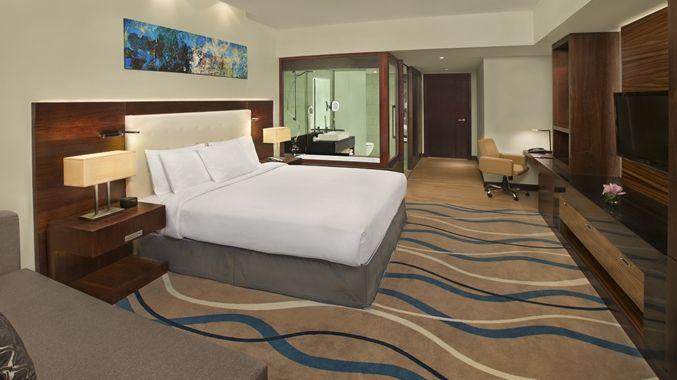 DoubleTree by Hilton Hotel and Residences Dubai – Al Barsha, UAE - King Bed Guest Room