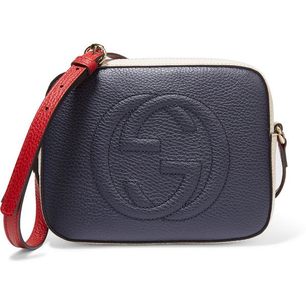 29d32900e99bb Gucci Soho Disco color-block textured-leather shoulder bag (€835) ❤ liked  on Polyvore featuring bags