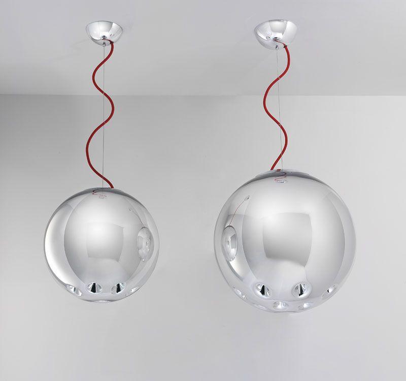 Luminaria de suspensión Round Chrome de Marco Bisenzi para B.Lux disponible en Taralux Iluminación www.taralux.es.