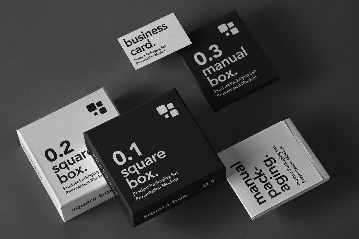 Free Product Packaging Mockup Set Box Mockup Packaging Mockup Free Packaging Mockup