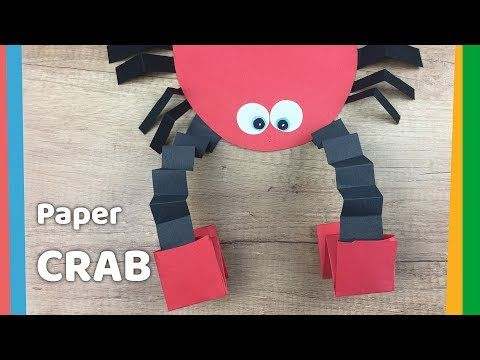 how to make paper crab with moving pincers easy and fun craft for
